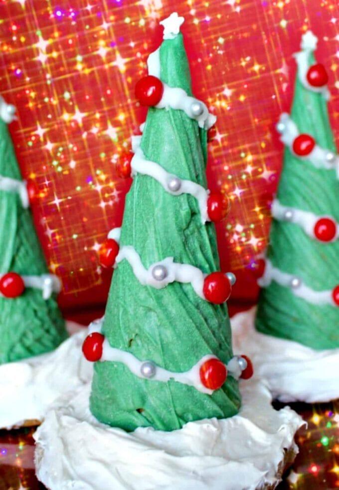 Ice Cream Cone Christmas Tree on cookie