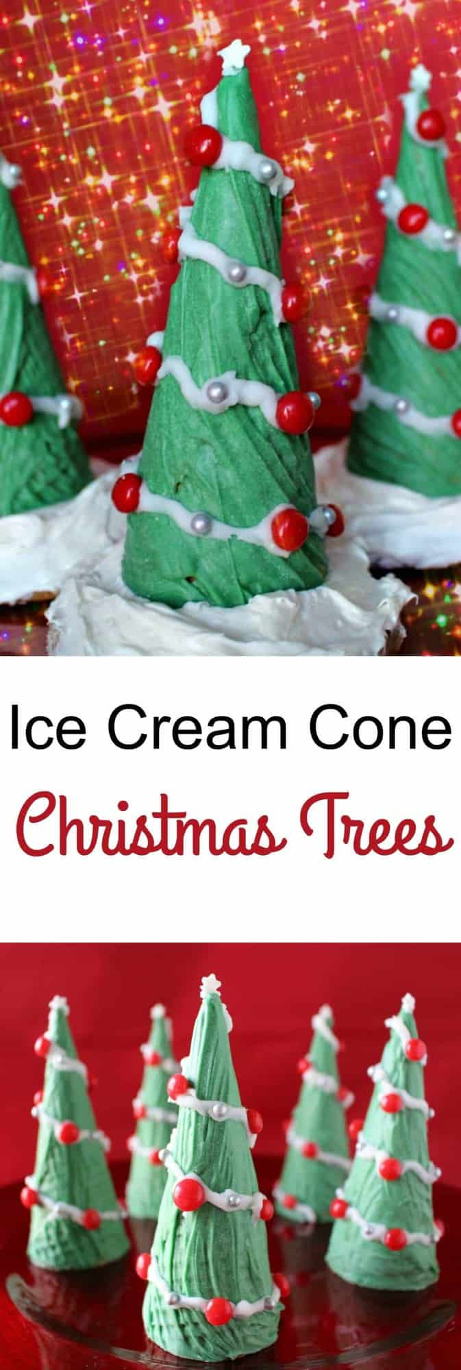 ice cream cone christmas trees a wonderful holiday treat