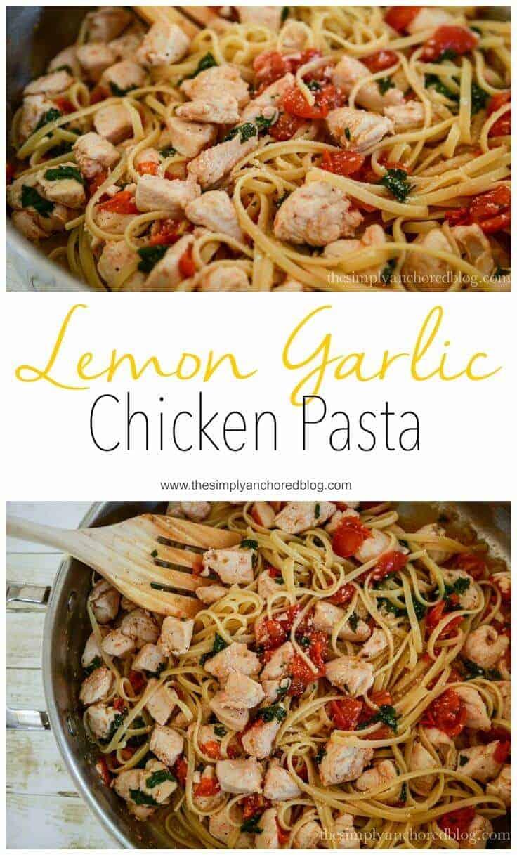 Lemon garlic chicken pasta
