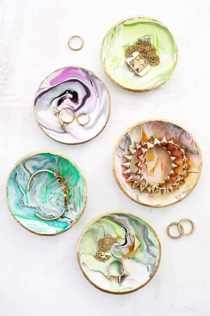 Marbled Clay Ring Dish by A Beautiful Mess