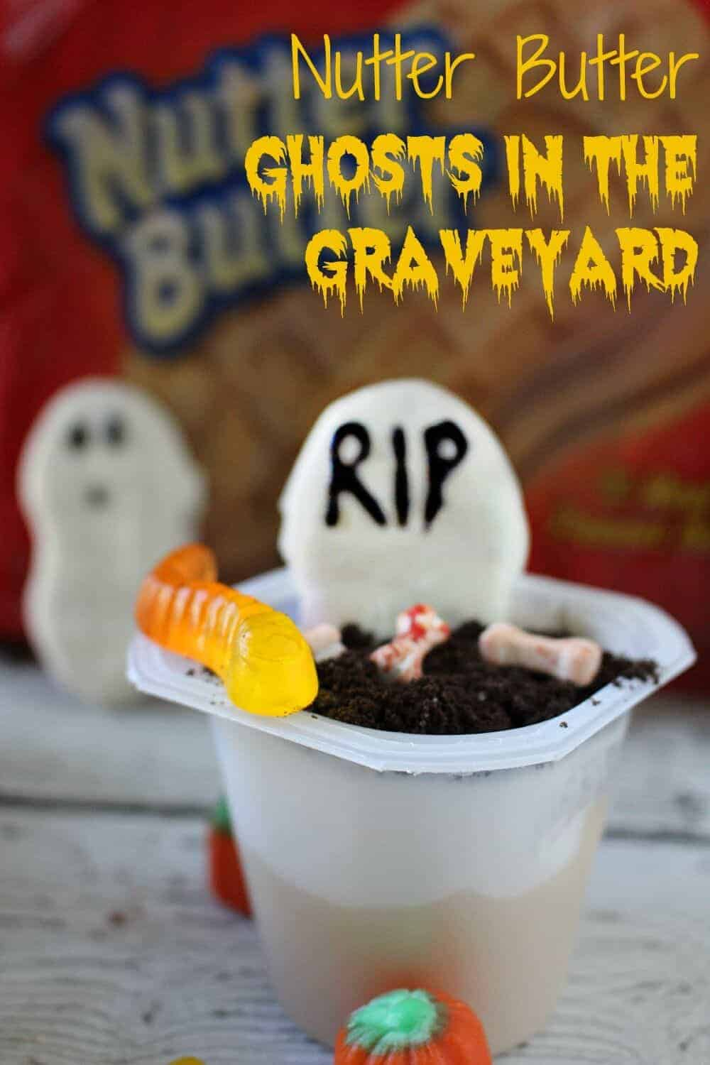 spooky nutter butter and pudding snacks graveyard nutter butter ghosts in the graveyard a spooktacular halloween treat spookysnacklab - Pudding Halloween Desserts