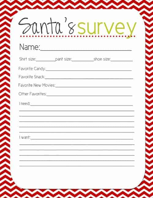 Santa Survey by Lovely LIttle Snippets