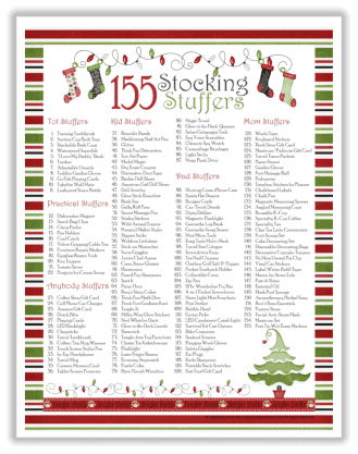 Stocking Stuffer Ideas Free Printable by Organizing Home Life