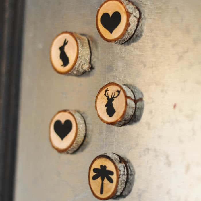 Wood Slice Magnets by Suburble