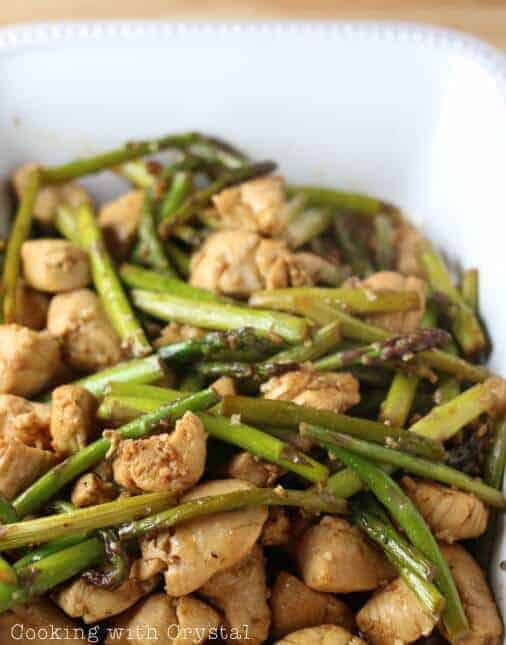 Asparagus & Chicken Stir Fry recipe