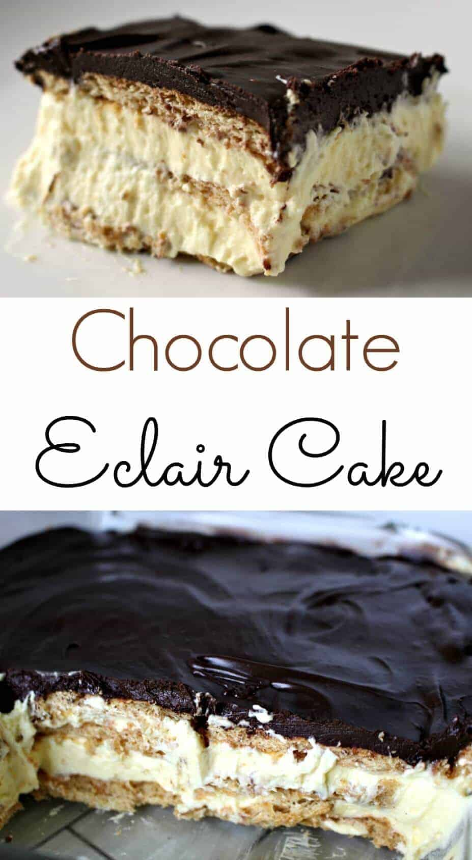 Images Of Chocolate Eclair Cake : The Easiest Eclair Cake - The Perfect No Bake Dessert ...