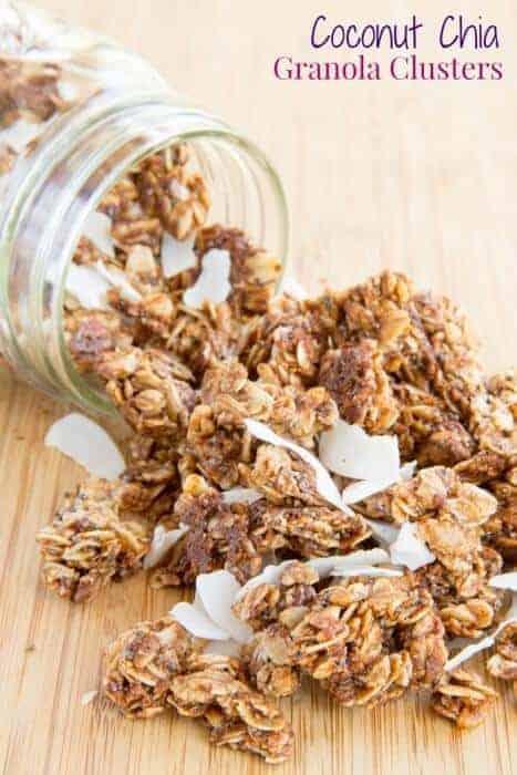 Coconut Chia Granola Clusters