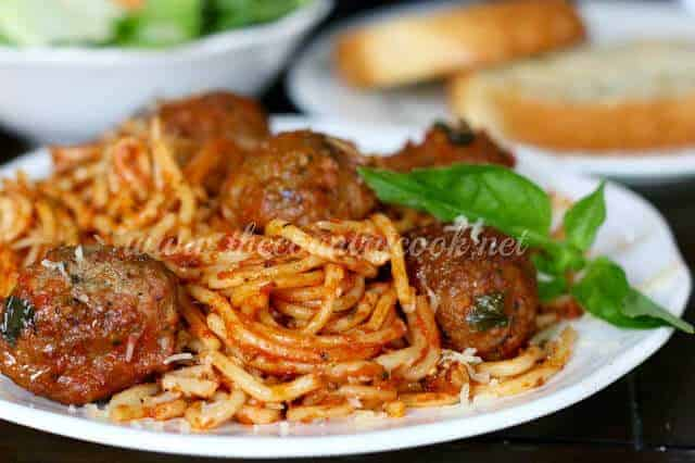 Crockpot Spaghetti and Meatballs by The Country Cook
