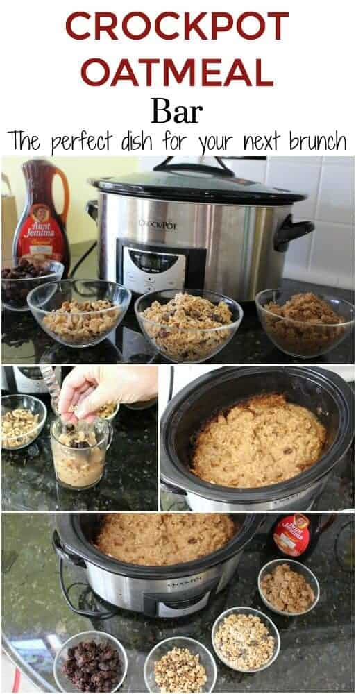 Crockpot Oatmeal Bar - perfect to serve for brunch