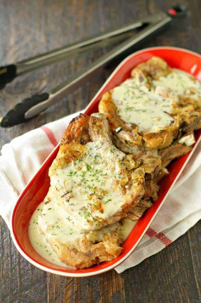 Crock Pot Pork Chops with Creamy Herb Sauce by Crock Pot Gourmet