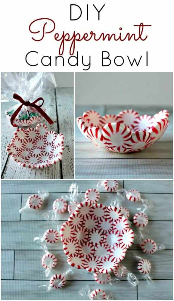DIY Peppermint Candy Bowl - The perfect and easiest DIY Christmas Gift