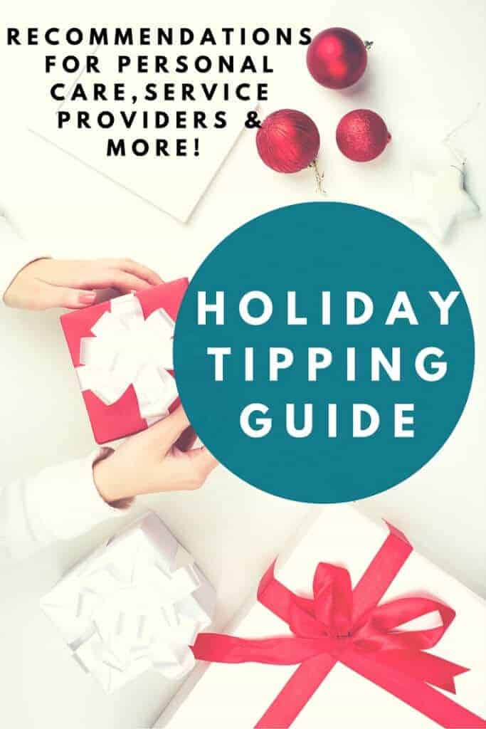 "Holiday Tipping Guide: Know how much to tip your hair stylist, babysitter, mail carrier, trainer and more! This will answer your ""How much do I give"" questions!"
