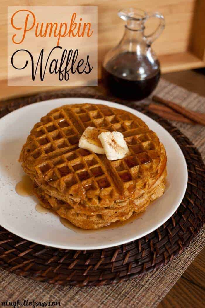 Pumpkin Spice Waffles | Pumpkin Pie Recipes and Pumpkin Pie Flavored Recipes!
