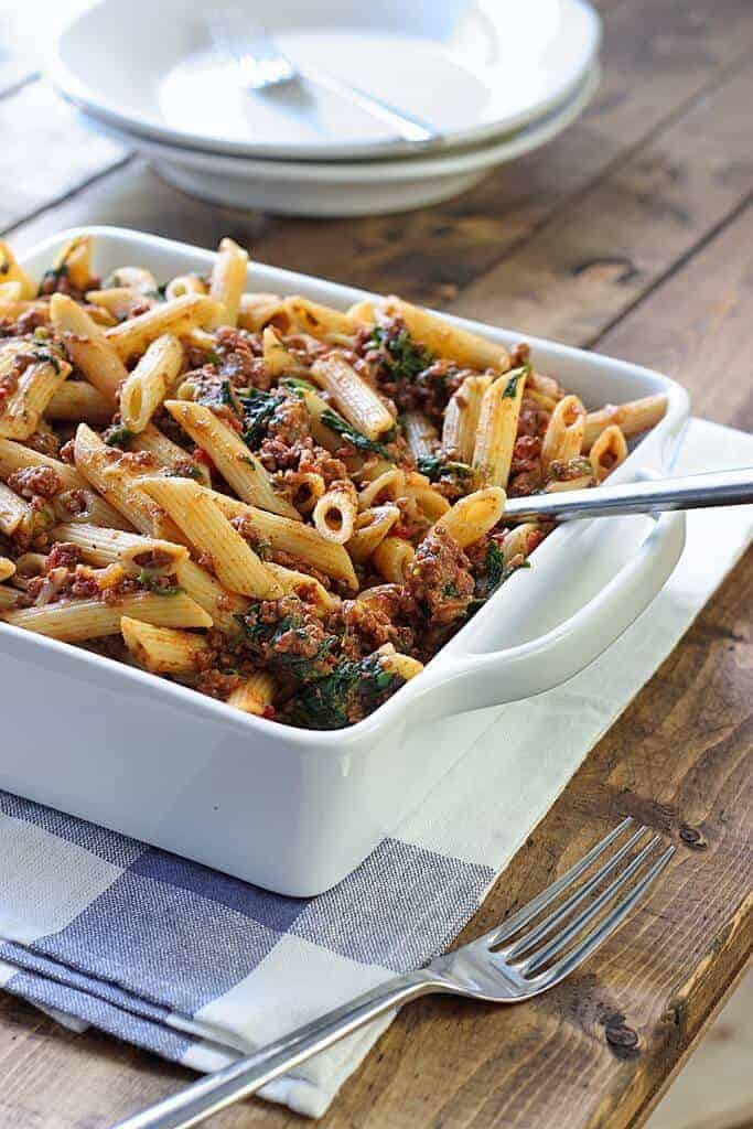 Slow Cooker Beef and Cheese Pasta by The Cooking Jar