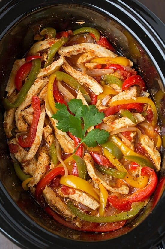 Slow Cooker Chicken Fajitas by Cooking Classy