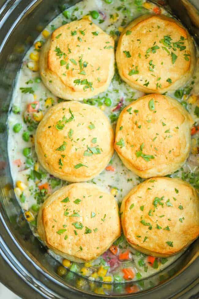 Slow Cooker Chicken Pot Pie by Damn Delicious