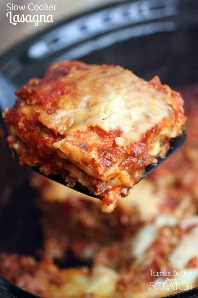 Slow Cooker Lasagna by Tastes Better from Scratch