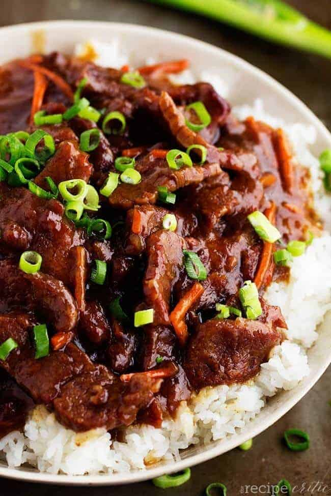 Slow Cooker Mongolian Beef by The Recipe Critic
