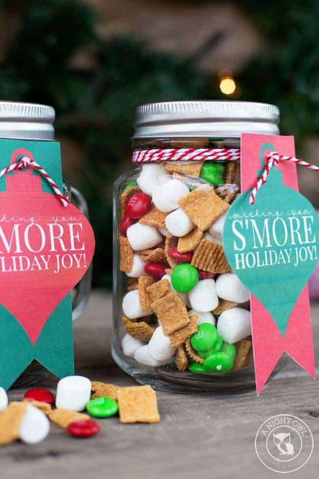 Smores Mason Jar by A Night Owl Blog