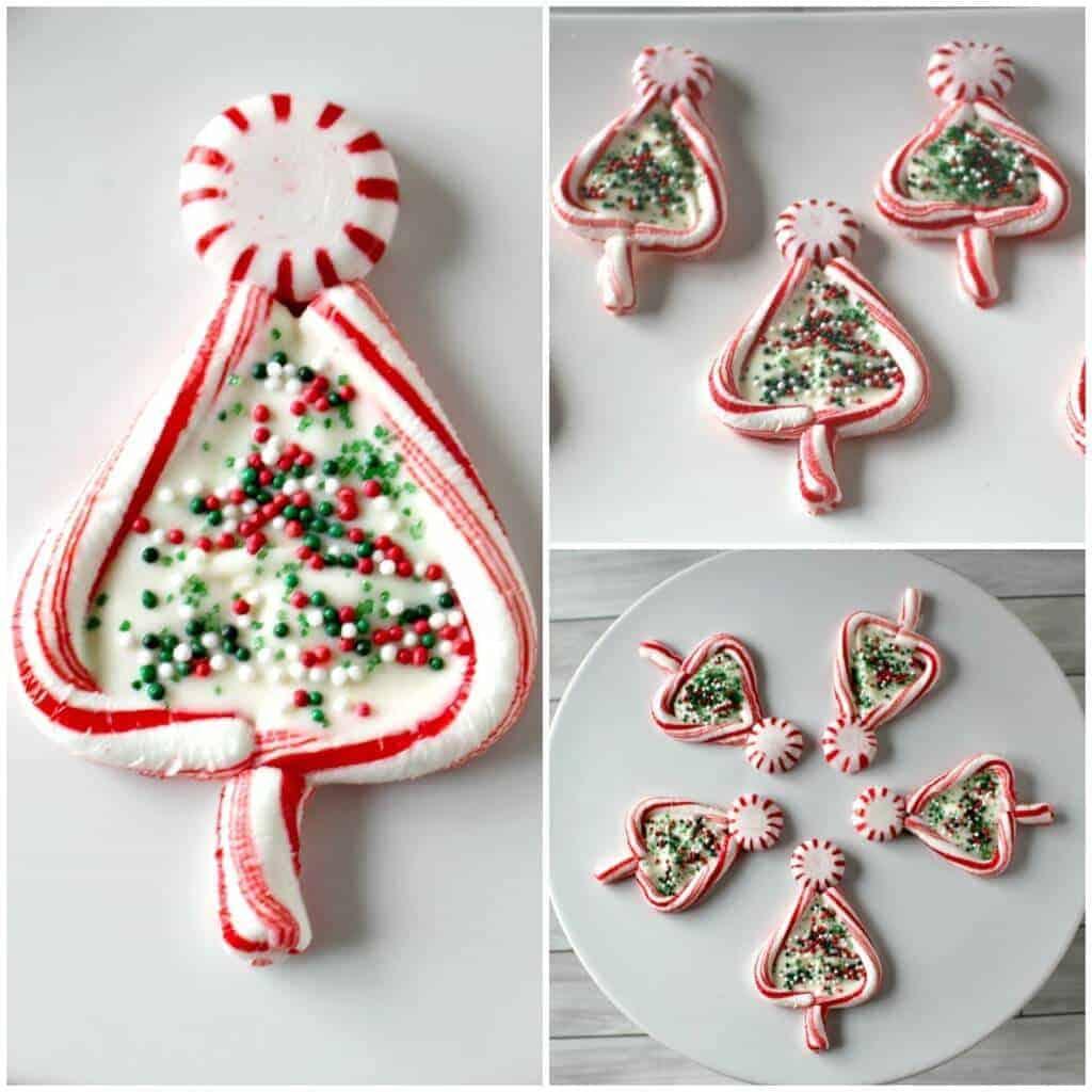 Candy Cane Christmas Trees - Princess Pinky Girl