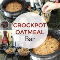 Slow Cooker Oatmeal Bar