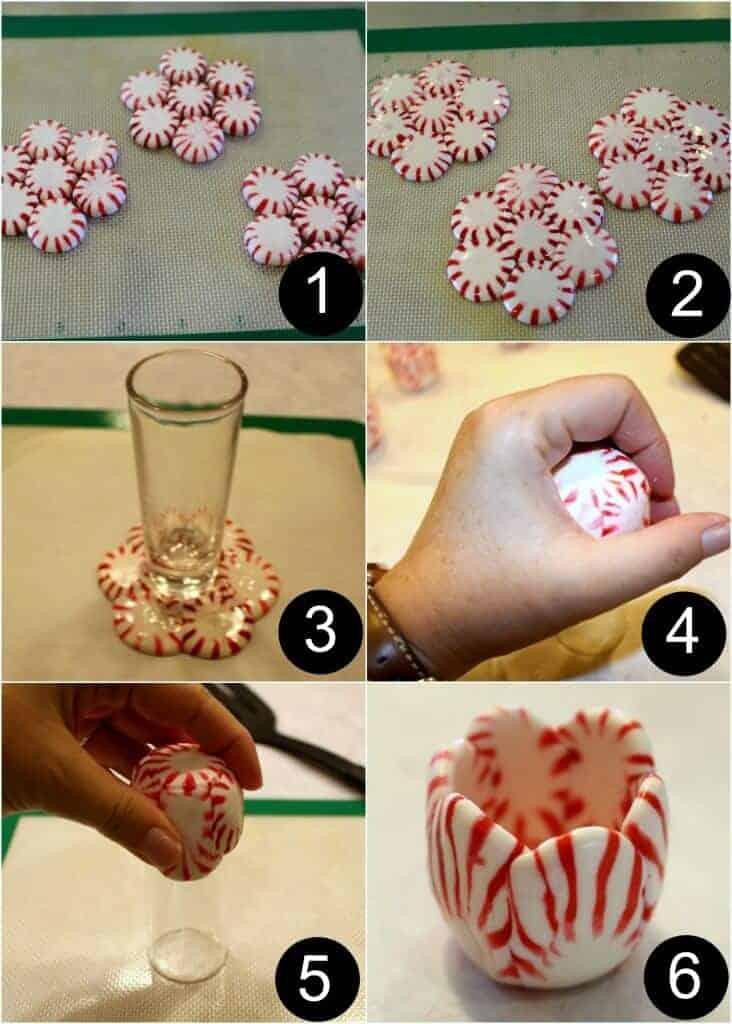 peppermint shot glass