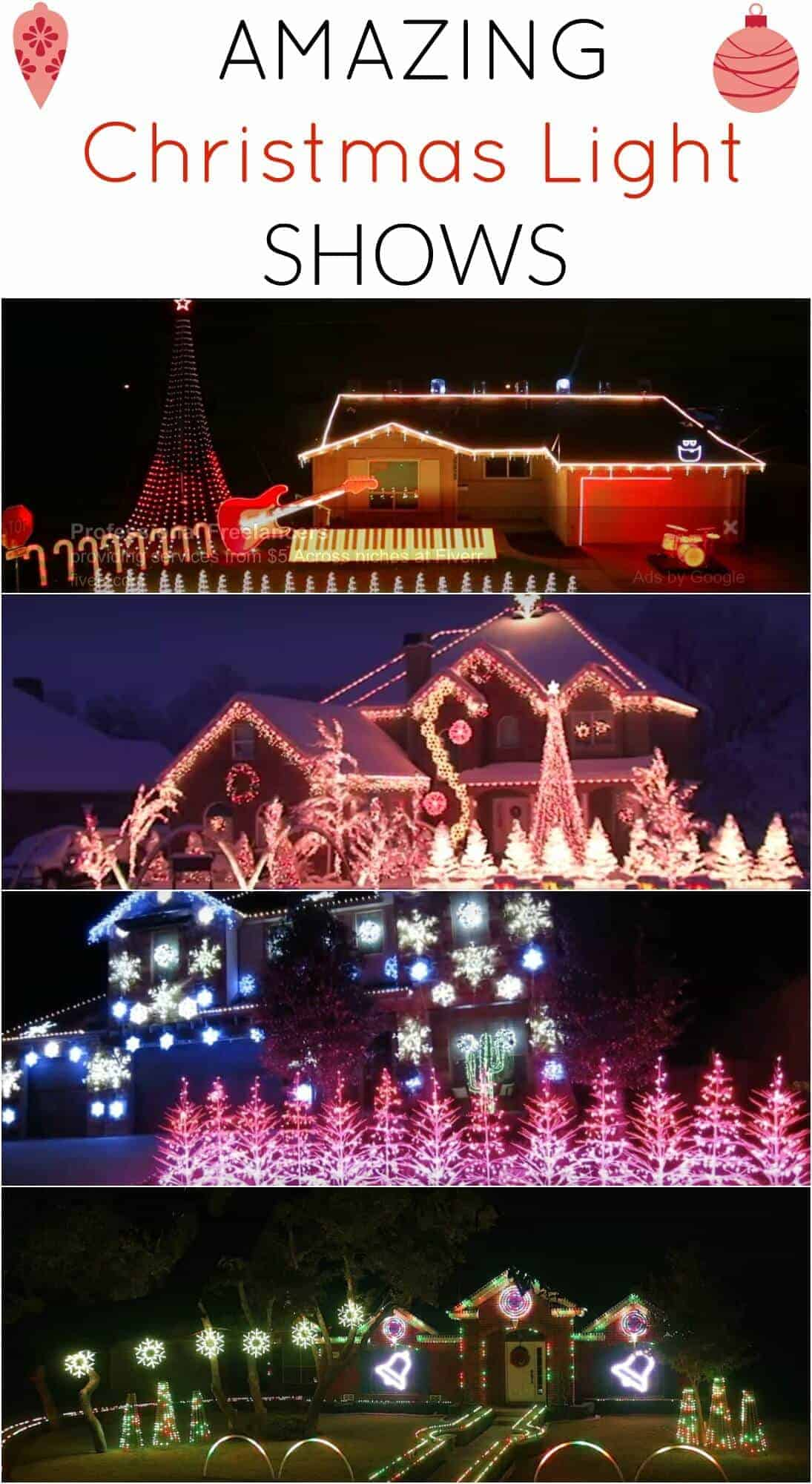 Amazing Christmas Light Shows - can you believe what these families accomplished! Amazing!