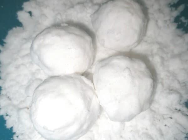 Bath Snow for Bath Activities for Kids