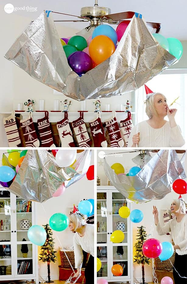 DIY Balloon Ball Drop by One Good Thing by Jillee