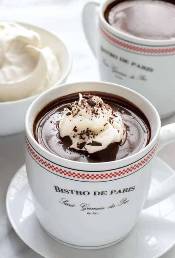 French Hot Chocolate by Well Plated