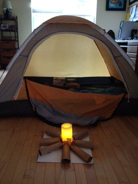 Indoor Camping by KC Edventures