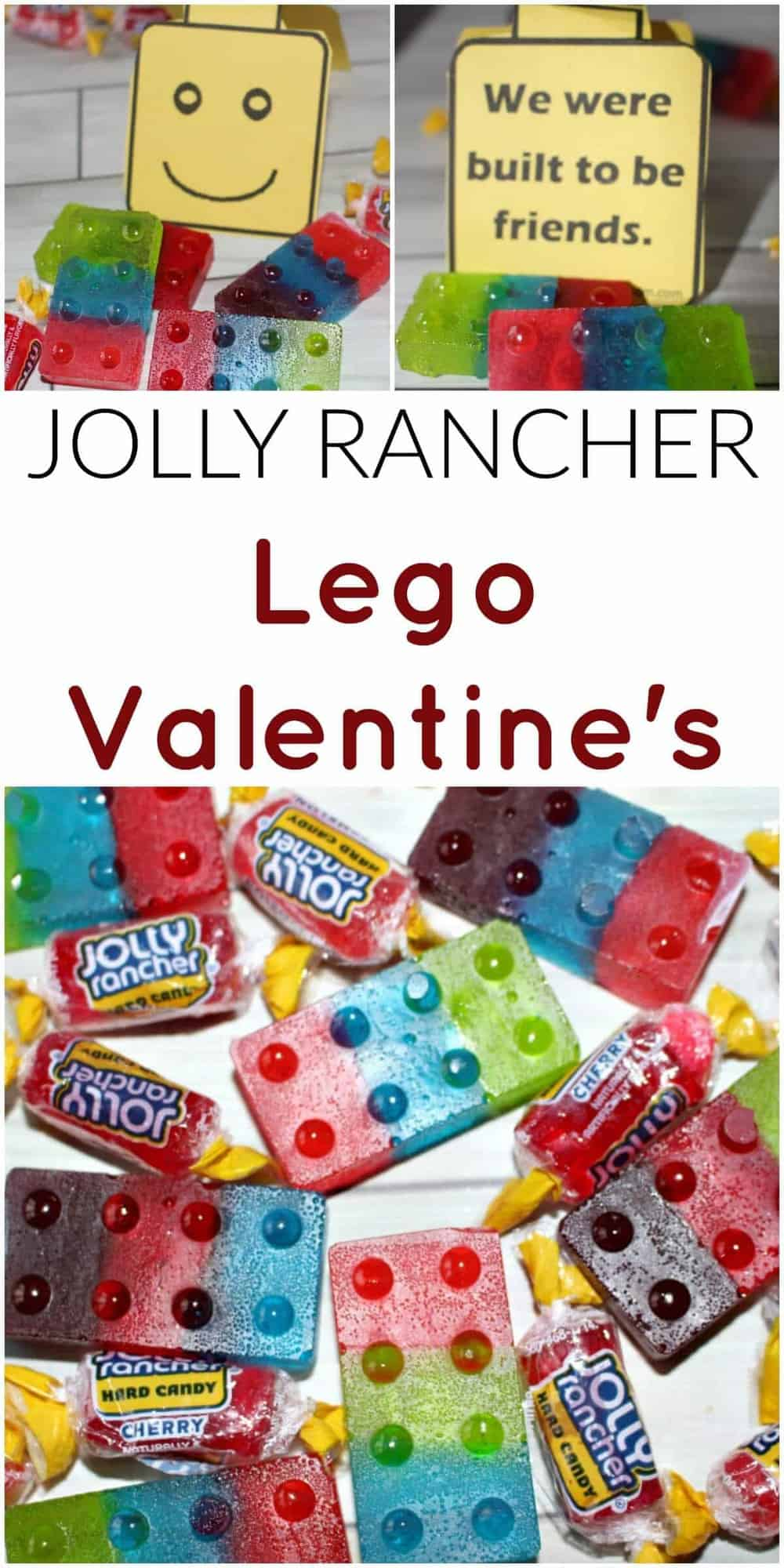 Jolly Rancher Lego Valentines form Princess Pinky Girl