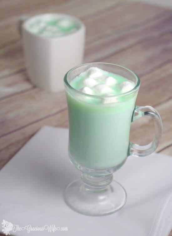 Mint White Hot Chocolate by The Gracious Wife