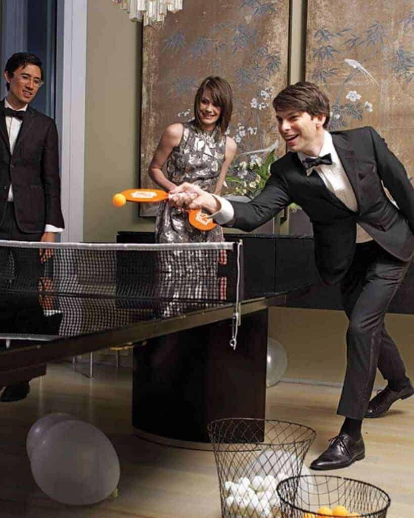 New Years Eve Dining Table Tennis via Martha Stewart