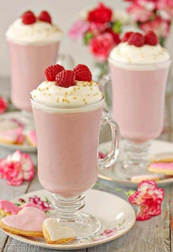 Raspberry White Hot Chocolate by Sugar Hero