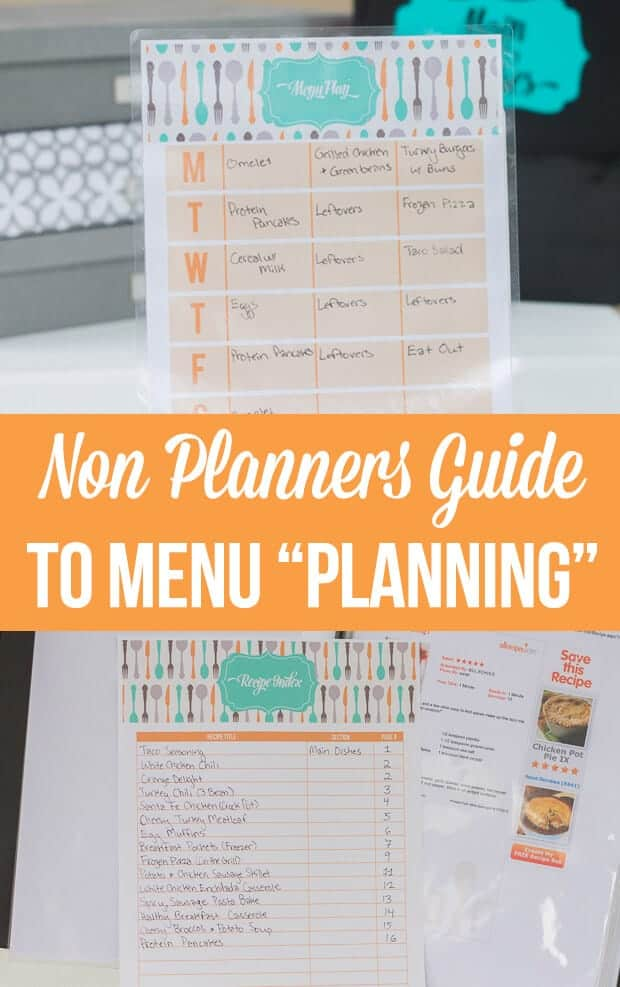 The Non Planners Guide to Meal Planning