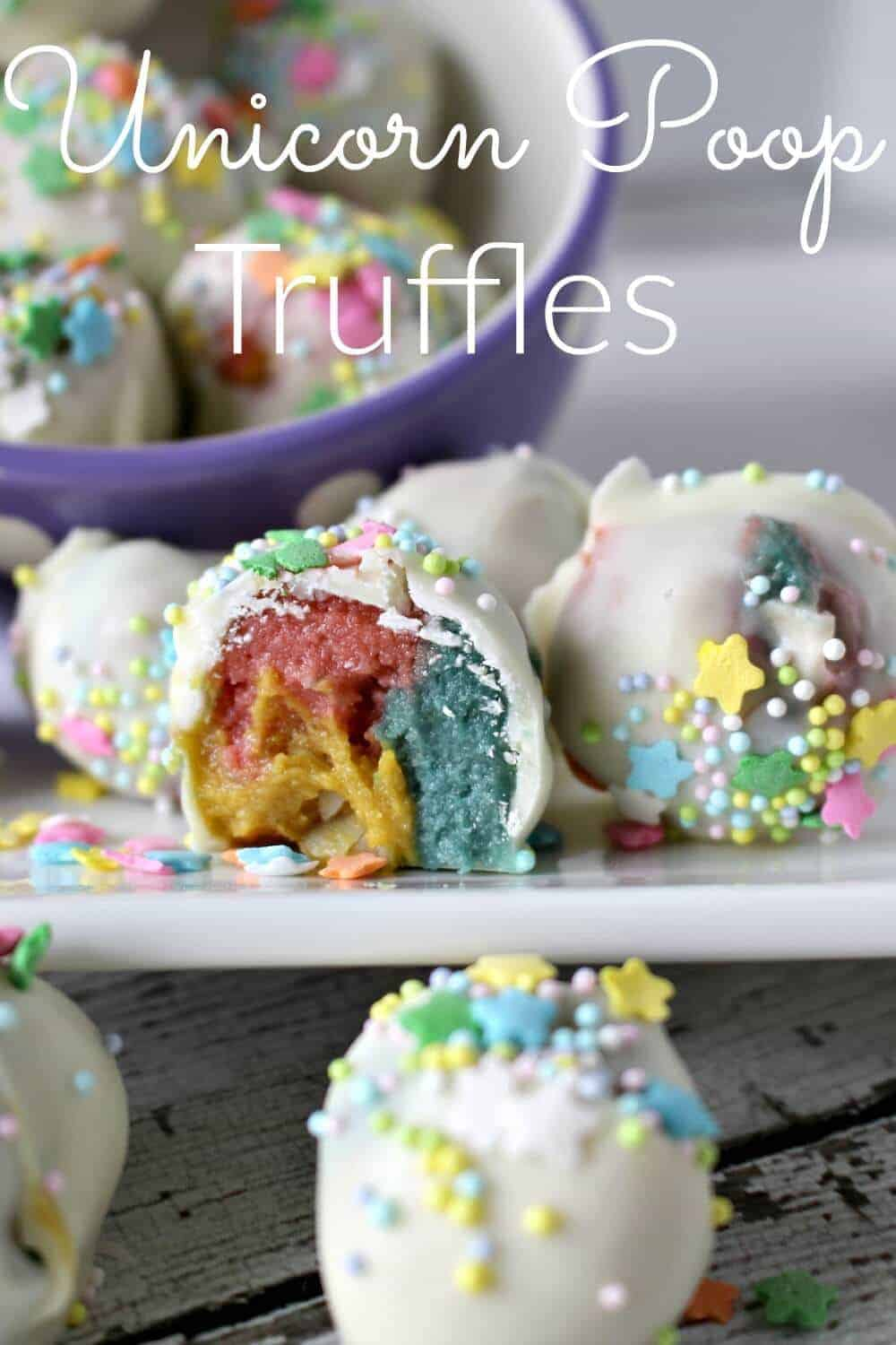 Unicorn Poop Truffles - a super fun treat for kids (and adults)