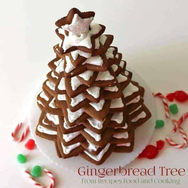Christmas Gingerbread Tree made from cookies