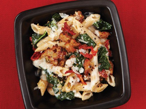 Baked Ziti with Kale and Sausage via Clean Eating