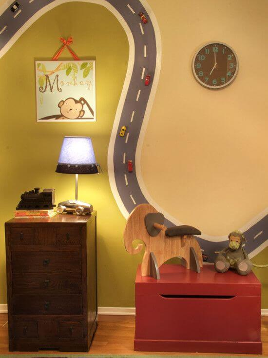 Paint a car room using magnetic paint