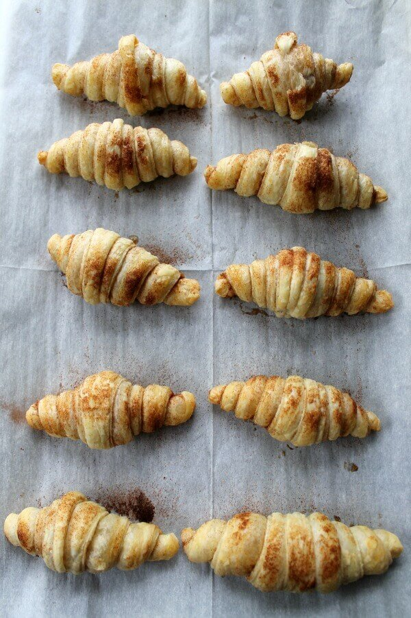 4 ingredients cinnamon croissants