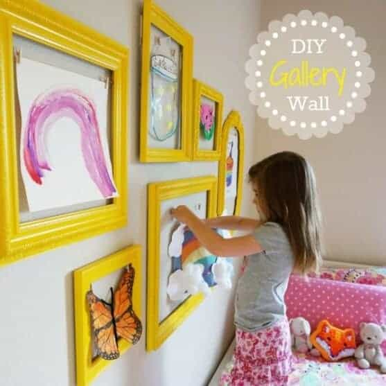 DIY Art Gallery Wall by the DIY Mommy