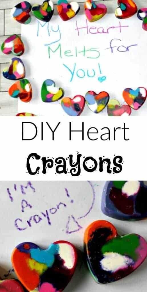 DIY Heart Crayons - the perfect non candy Valentines Day treat