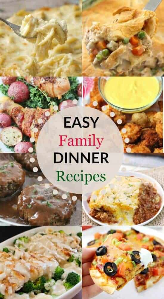 Easy family dinner recipes that your family will love