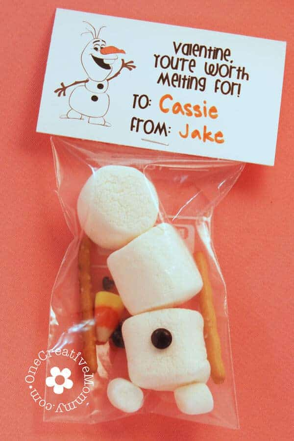 Frozen Olaf Valentine by One Creative Mommy