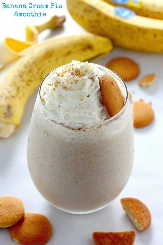 Healthy Banana Cream Pie Smoothie by Baker by Nature