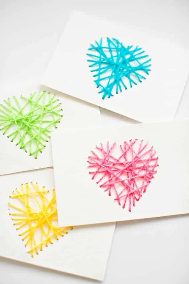 Heart String Art Cards by Hello Wonderful