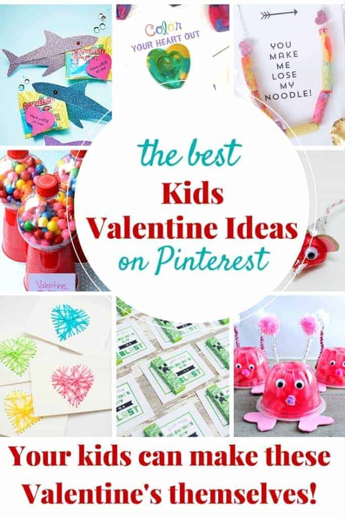 The best kids Valentine ideas on Pinterest! Your kids can make these themselves!