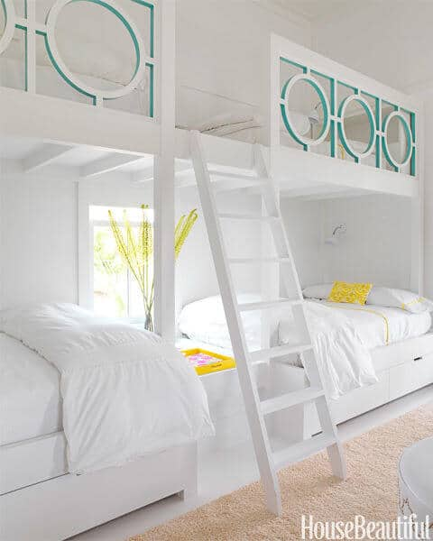 Lattice Bunk Bed via House Beautiful