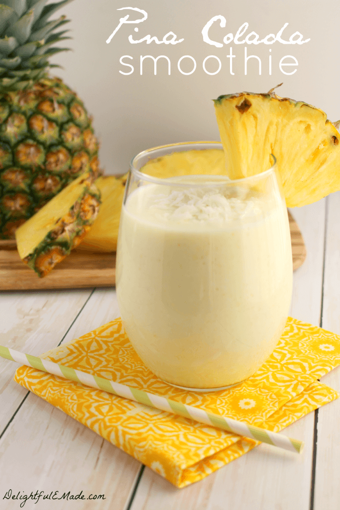 Pina Colada Smoothie by Delightful E Made